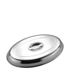 """Stainless Steel Oval Vegetable Dish Cover 8"""" / 20cm"""