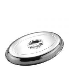 """Stainless Steel Oval Vegetable Dish Cover 10"""" / 25.4cm"""