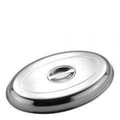 """Stainless Steel Oval Vegetable Dish Cover 12"""" / 30cm"""