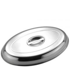 """Stainless Steel Oval Vegetable Dish Cover 14"""" / 35cm"""