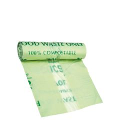 """Compostable Refuse Sack 25 Micron 125Ltr 9.5x41.25""""/ 750x1050mm"""