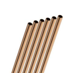 """Stainless Steel Copper Straw 6mm Bore 8.5"""" / 21.5cm"""