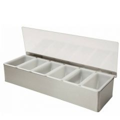 Stainless Steel Condiment Dispenser 6 Compartment
