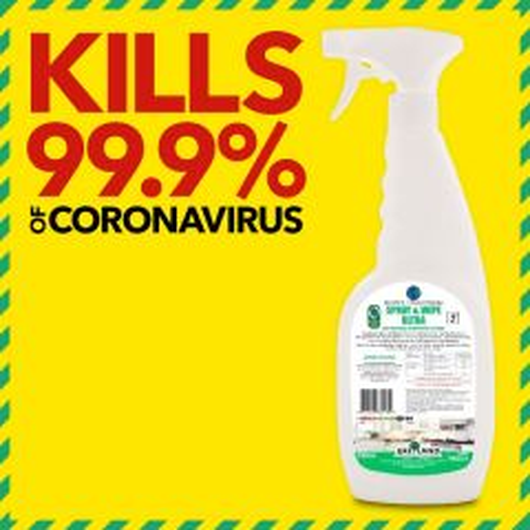 Greyland Spray & Wipe Ultra Virucidal Disinfectant Trigger Spray 750ml