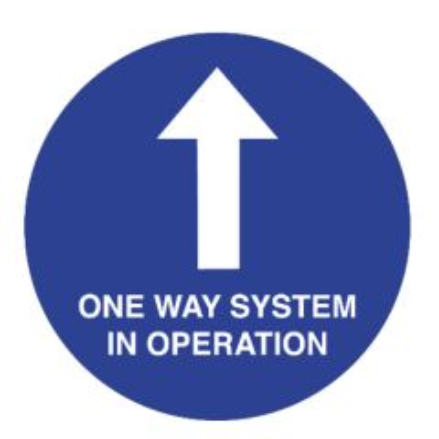 Anti-Slip Vinyl One Way System In Operation Floor Graphic 400mm Diameter