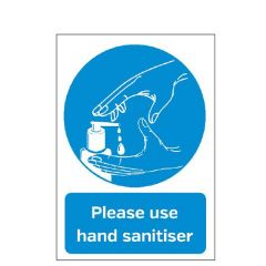 'Please Use Hand Sanitiser' A5 Counter Top Display Board 148x210mm