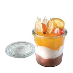 Glass Dessert Pots with Covers 6x7cm, 14cl