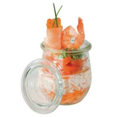 Glass Dessert Pots with Covers 8oz / 22cl