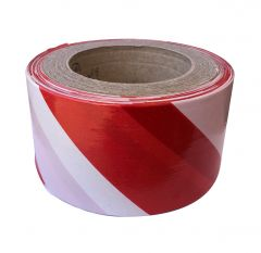 Red & White Stripe Non Adhesive Barrier Tape 100m x 75mm