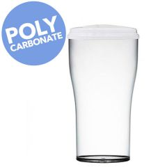 Elite Polycarbonate Tulip with Lid CE Marked 2 Pint to Brim