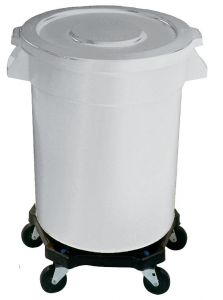 Huskee White Round Container 75Ltr