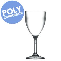 Elite Polycarbonate Premium Wine Glass 9oz / 26cl Lined at 175ml