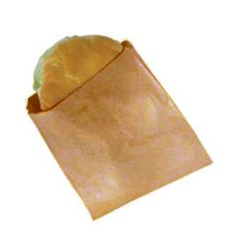 "Brown Disposable Pure Kraft Paper Bag Strung 10x10"" / 25x25cm"