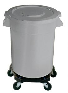 Huskee Grey Round Container 75Ltr