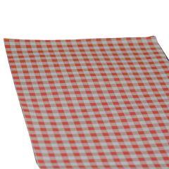 "Red Gingham Greaseproof Paper Sheet 9.75x14.75"" / 250x375mm"