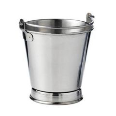 "Stainless Steel French Fries Footed Bucket 4x4""/10x10cm"