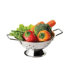 """Stainless Steel Two Handled Mini Colander 4/""""/10cm"""