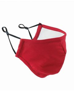 Red Protective Triple-Layer Fabric Face Mask