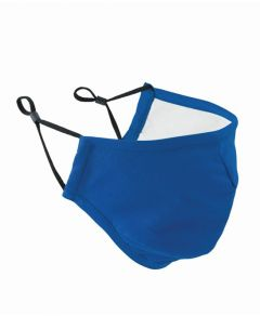 Royal Blue Protective Triple-Layer Fabric Face Mask