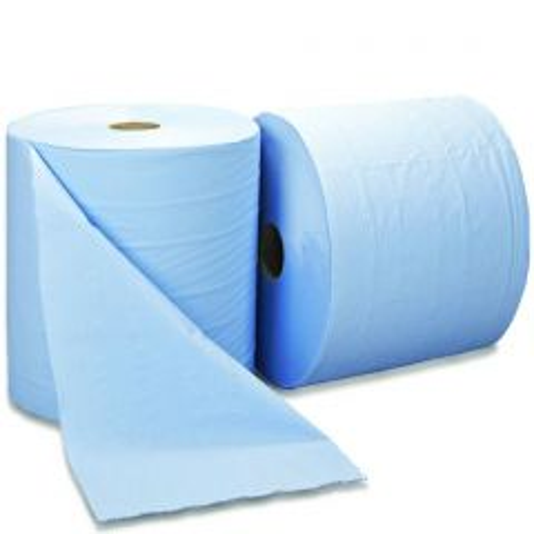 Essentials Blue Industrial Bumperoll 2ply 280mm x 400m