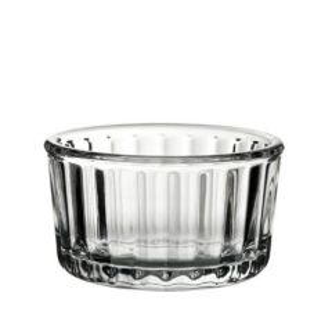 "Glass Fully Toughened Fluted Ramekin 4.5oz / 13cl  4.25"" / 8cm"
