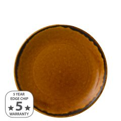 """Dudson Harvest Brown Coupe Plate 8.66"""" / 21.7cm"""