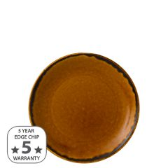 """Dudson Harvest Brown Coupe Plate 6.5"""" / 16.5cm"""