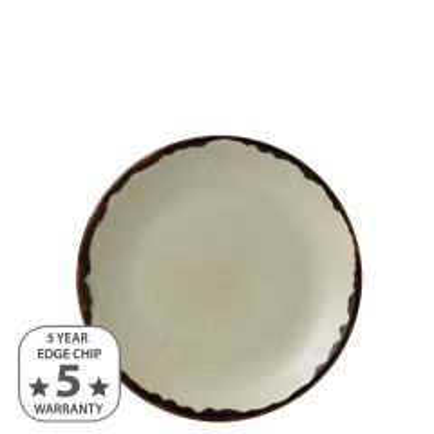 """Dudson Harvest Linen Coupe Plate 6.5"""" / 16.5cm"""
