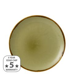 "Dudson Harvest Green Coupe Plate 8.66"" / 21.7cm"
