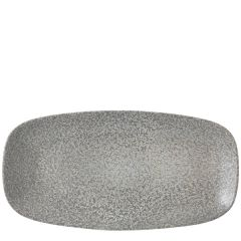 "Dudson Evo Origins Natural Grey Chefs' Oblong Plate 13.875x7.375"" / 35.5x18.9cm"