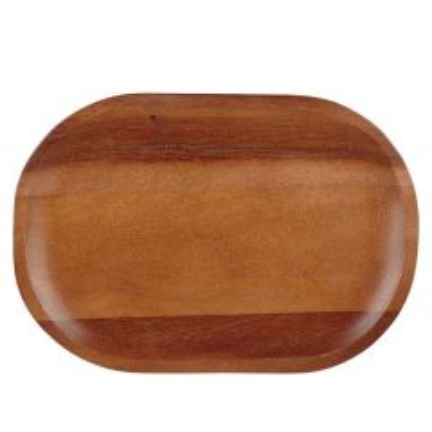 "Churchill Acacia Wood Moonstone Plate 7.8x11.5"" / 20x29cm"