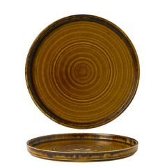 """Dudson Harvest Brown Walled Plate 8.25"""" / 21cm"""