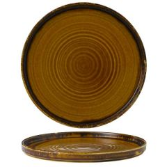 """Dudson Harvest Brown Walled Plate 10.25"""" / 26cm"""