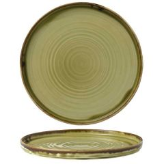 "Dudson Harvest Green Walled Plate 10.25"" / 26cm"