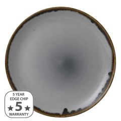 """Dudson Harvest Grey Coupe Plate 11.25"""" / 28.8cm"""