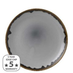 """Dudson Harvest Grey Coupe Plate 10.25"""" / 26cm"""