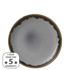 """Dudson Harvest Grey Coupe Plate 8.66"""" / 21.7cm"""