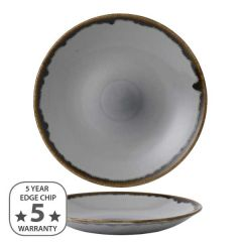 "Dudson Harvest Grey Deep Coupe Plate 10"" / 25.5cm"