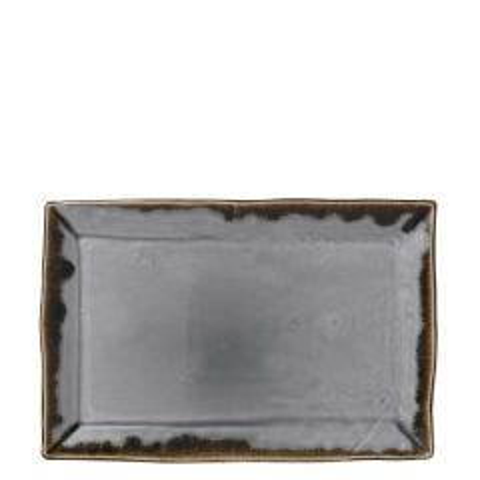 "Dudson Harvest Grey Chefs' Rectangular Tray 11.25x7.375"" / 28.7x19cm"