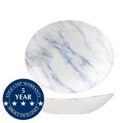 """Churchill Textured Prints Blue Marble Oval Coupe Bowl 10x8.25"""" / 25.5x21.2cm"""