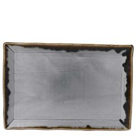 "Dudson Harvest Grey Chefs' Rectangular Tray 13.5x9.125"" / 34.5x23.3cm"