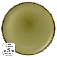 "Dudson Harvest Green Coupe Plate 12.75"" / 32.4cm"