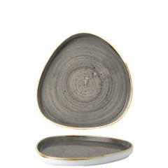 """Churchill Stonecast Peppercorn Grey Chefs' Triangle Walled Plate 7.875"""" / 20cm"""