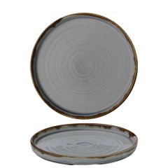 """Dudson Harvest Grey Walled Plate 8.25"""" / 21cm"""