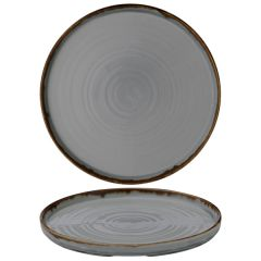 """Dudson Harvest Grey Walled Plate 10.25"""" / 26cm"""