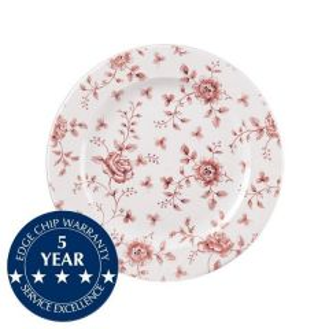 """Churchill Vintage Prints Cranberry Rose Chintz Tea Plate 6.625"""" / 17cm"""