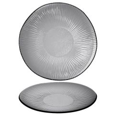 "Churchill Bamboo Dusk Organic Glass Plate 9"" / 22.5cm"