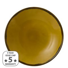 """Dudson Harvest Mustard Coupe Plate 11.25"""" / 28.8cm"""