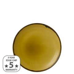 """Dudson Harvest Mustard Coupe Plate 8.66"""" / 21.7cm"""