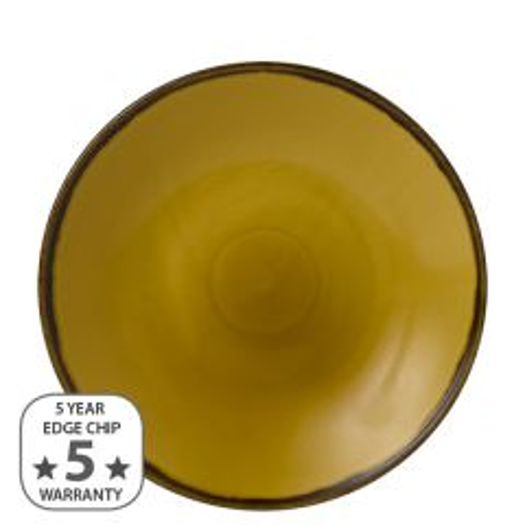 "Dudson Harvest Mustard Deep Coupe Plate 11"" / 28.1cm"